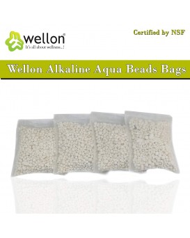 Wellon Alkaline Aqua Beads Bags Certified by NSF (Pack of 4)