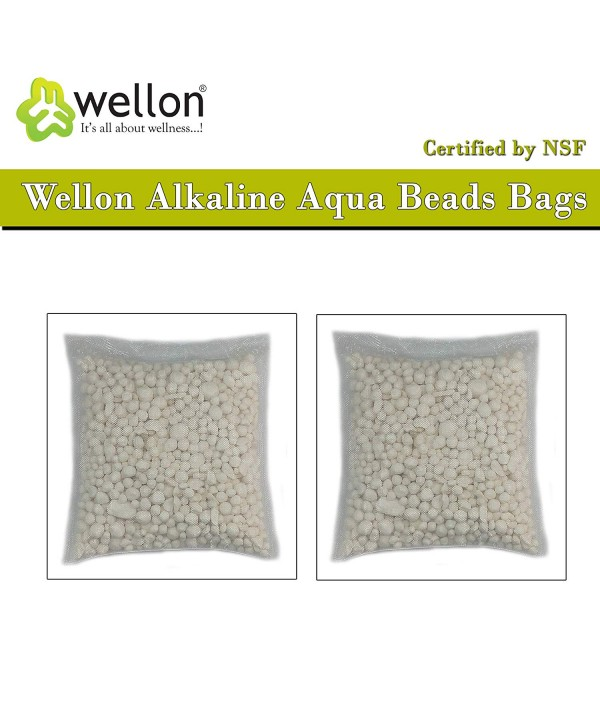 Wellon Alkaline Aqua Beads Bags Certified by NSF (Pack of 2)
