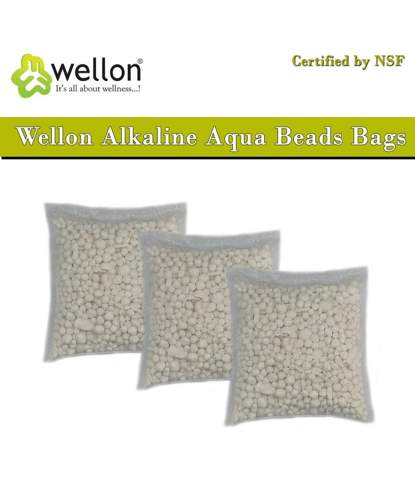 Wellon Alkaline Aqua Beads Bags Certified by NSF (Pack of 3)