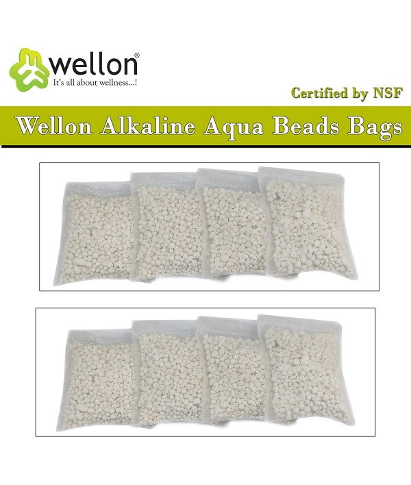 Wellon Alkaline Aqua Beads Bags Certified by NSF (Pack of 8)