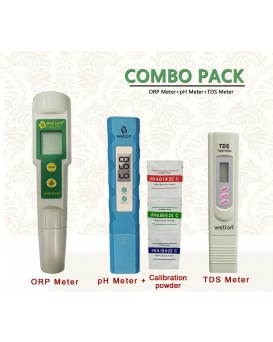 Wellon High Quality Tester Combo Wellon ORP Meter + Wellon pH Meter + Wellon TDS Meter.