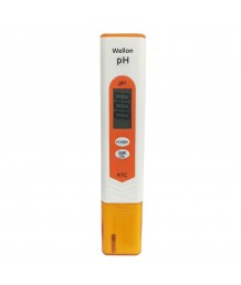 WELLON Digital Portable Pen Type pH Meter Tester with Automatic Calibration (Orange)