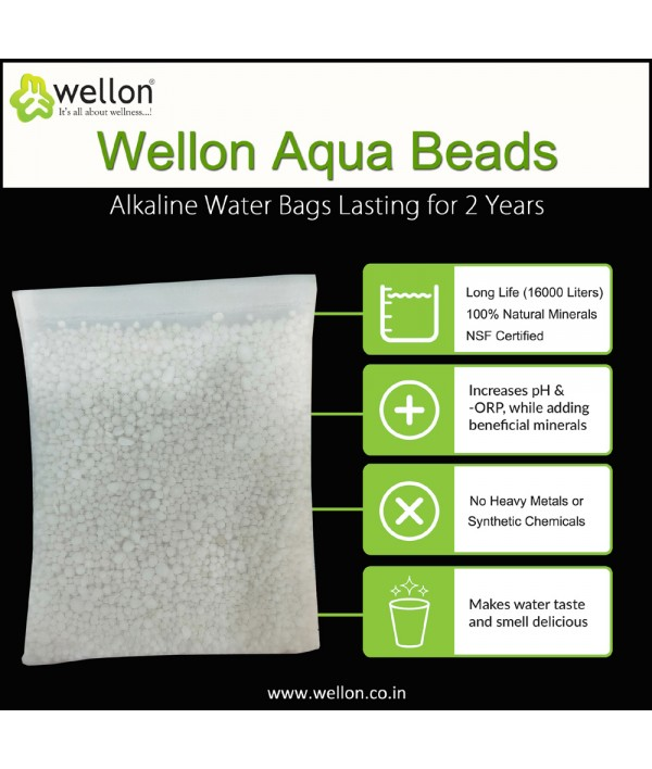 Wellon Alkaline Water Aqua Beads Bags Lasting For 2 Years