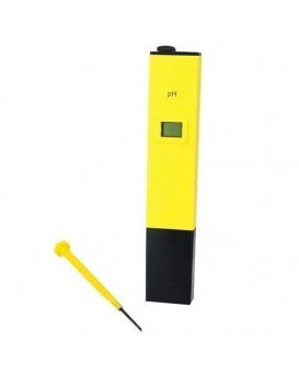 WELLON Digital Portable Pen Type pH Meter Tester with LCD Monitor (Yellow)