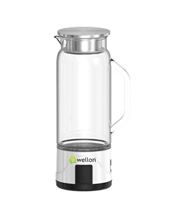 WELLON 1 L SPE PEM Hydrogen Generator Water Bottle Exhust + SPE PEM Technology Ionizer High Concentration Discharge Ozone and Chlorine