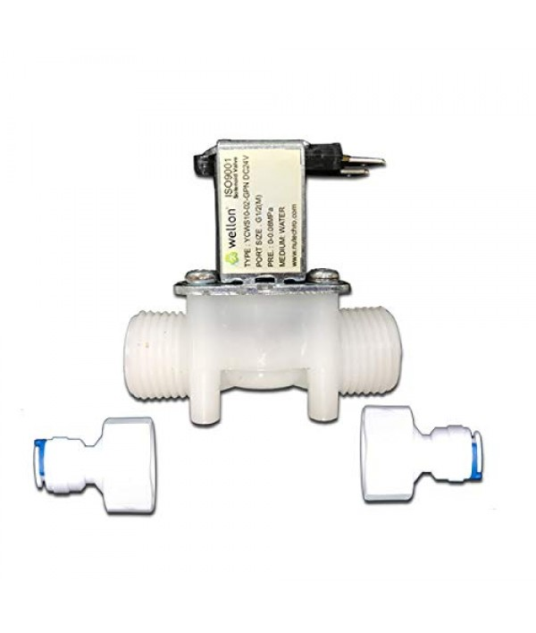 Wellon Replacement Solenoid Valves 24V DC for All Types of Domestic Ro System (1/2'' Port Size)