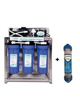 Wellon 25 Liter/Hour RO + Alkaline Commercial Water Purifier System