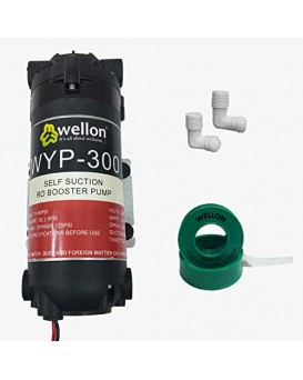 Wellon Ro Booster Pump 300 GPD with Connectors for Any Water Purifier :ISO 9001:2008 Company