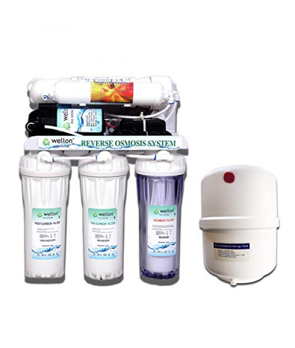 WELLON 10LPH Openflow Under-Sink RO Water Purifier + Wellon 10 Liter Storage Tank