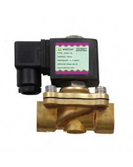 """Wellon AC220V 1/2"""" Brass Electric Solenoid Valve for Industrial & Commercial Water Purifiers"""
