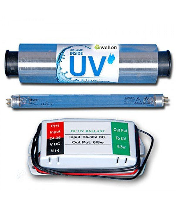 Wellon UV Set Replacement Kit With Philips UV Lamp, Chamber, SMPS For RO+UV+UF Water Purifiers(Silver)