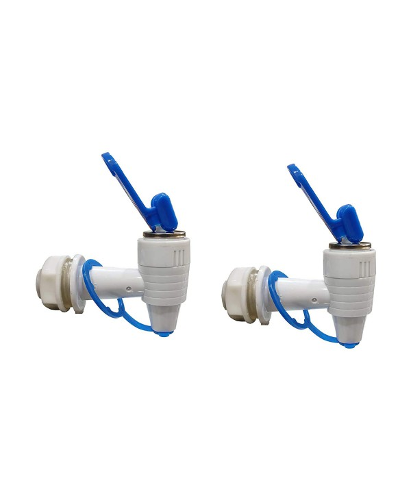 WELLON RO Plastic RO Tap for All RO Purifiers,White (Pack of 2) (E1B).