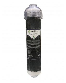"""WELLON 13"""" Magnetic Iron Removal Filter with Magnetic Mineral Bio Ceramic Balls for All Types of Water Purifiers"""