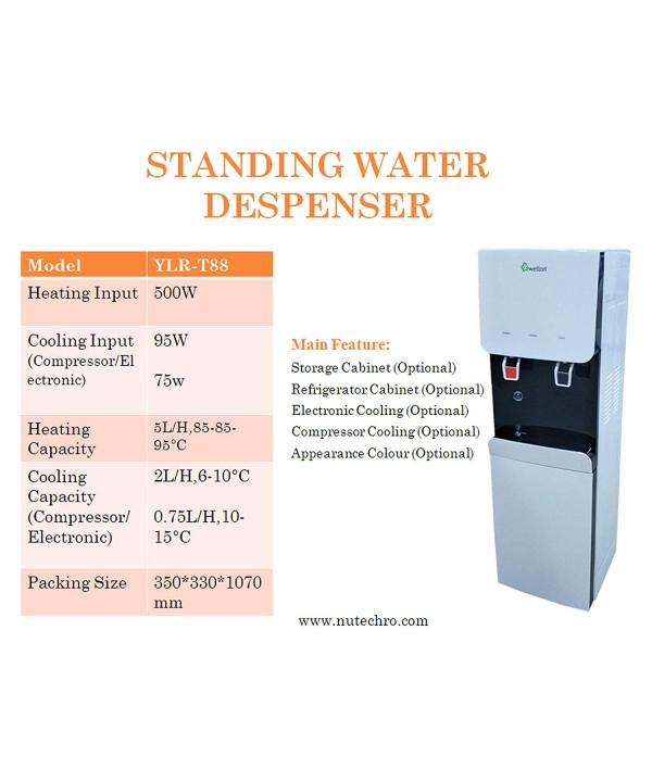 WELLON Standing Water Dispenser with RO + Alkaline (Normal & Cold)