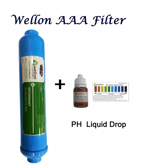 WELLON AAA Alkaline Cartridge Filter for RO Water Purifier With pH drop (9 INCH)