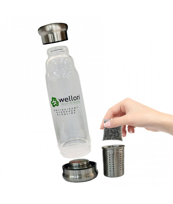 Wellon Alkaline Water Bottle Refillable Filter Pouch for All Types of Alkaline Bottle(1- Carbon, 1- Hydrogen)