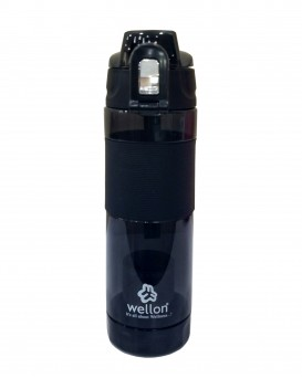 WELLON Alkaline Hydrogen Sports Water Bottle for Healthy Drinking Water (Black)
