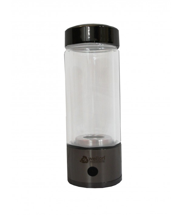 WELLON SPE PEM Hydrogen Generator Water Bottle SPE PEM Technology Ionizer High Concentration Discharge Ozone and Chlorine. (Black)