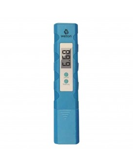 Wellon High Quality Pen Type pH Meter for Water Purity pH Tester With Automatic Calibration (Blue)