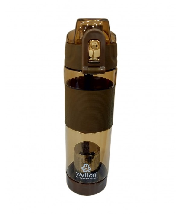 WELLON Alkaline Hydrogen Sports Water Bottle for Healthy Drinking Water (Brown)