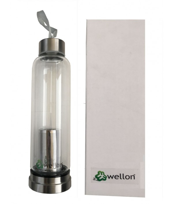WELLON Hydrogen AA Alkaline Water Bottle (Pure Glass)