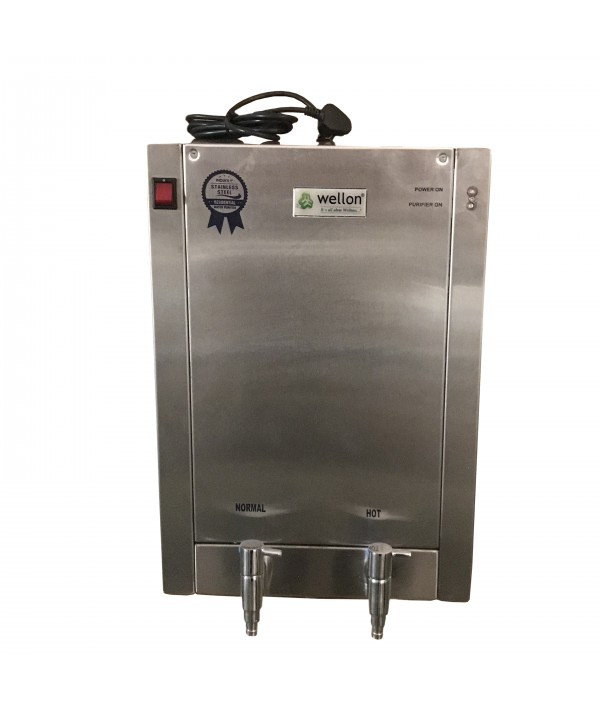 Wellon 30 LPH Stainless Steel RO+Alkaline With HOT Water Dispenser