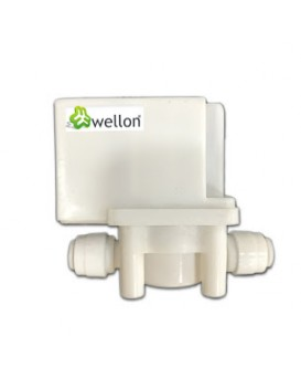 Wellon Replaceable 36V DC Solenoid Valve with Auto-Flushing Built-in Function Suitable for All Types of Water Purifier.