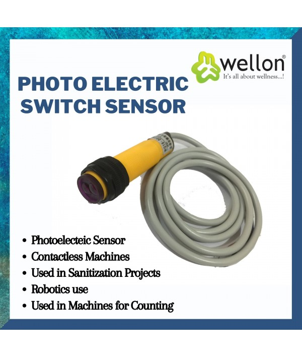 Wellon Photoelectric Switch Sensor Infrared Diffuse Adjustable (6-36 VDC, 300mA,Yellow)