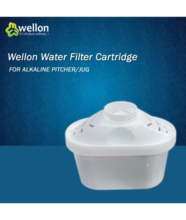 Wellon Alkaline Pitcher Ionizer Antioxidant Filtered Water Jug Cartridge (Horizontal)