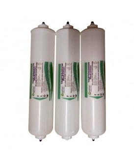WELLON ORGANIC (push fit) Inline Filter Complete Set with Pre Carbon, Sediment, Post Carbon Filters and Connectors for all water purifiers and RO systems 2 Carbon Filter 1 Sediment Filter 6 Elbow Made in Taiwan