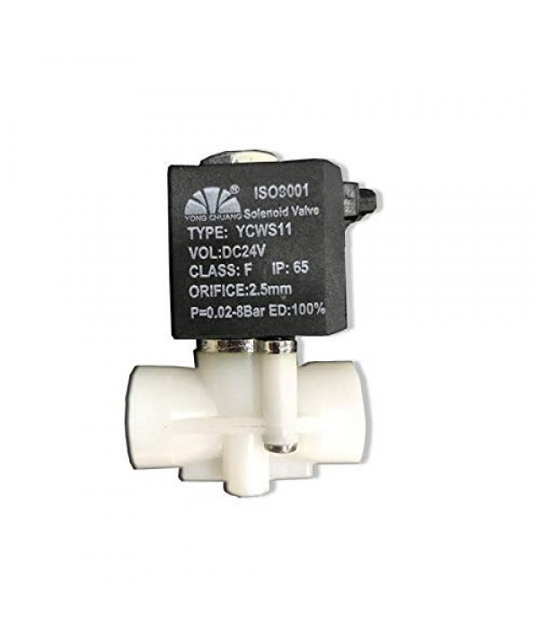 Wellon Yongchaung Original Solenoid Valve 24V(DC)-Black Wire  SV for Heavy Duty RO Models.