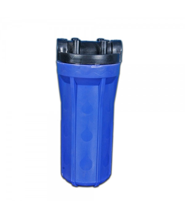 """HOUSING BLUE 10"""" SUITABLE FOR 25 LITER RO COMMERCIAL WATER PURIFIER"""